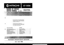 Buy Hitachi CT1966 Service Manual by download Mauritron #289493