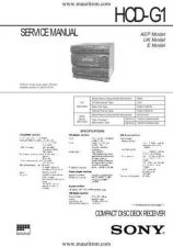 Buy Sony HCD-G1 Manual by download Mauritron #328916