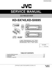 Buy JVC KD-SX745-SX695 Service Manual by download Mauritron #275264