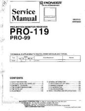 Buy Pioneer PRO-99 Service Manual by download Mauritron #323697