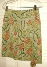 Buy Tommy Bahama Silk Skirt 4 Hawaiian Floral Print A Line Above Knee NWOT 4