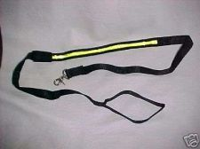 Buy 2 - TWO LEASHES New strong soft heavy lighted NIGHT dog walk safety snap hook
