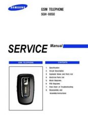 Buy Samsung SGH-X650 Mobile Phone Service Manual by download Mauritron #306475