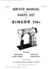 Buy Singer 236W Sewing Machine Service Manual by download Mauritron #321346