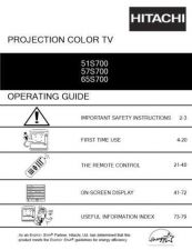 Buy Hitachi 65S500 Service Manual by download Mauritron #288518
