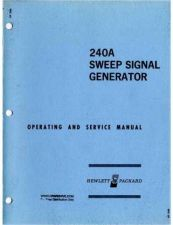 Buy Hewlett Packard 240A Service Manual by download Mauritron #326600
