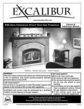 Buy Excalibur P-90 Fireplace Operating and Installation Manual by download Mauritron #307