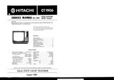 Buy Hitachi CT1907 Service Manual by download Mauritron #284991