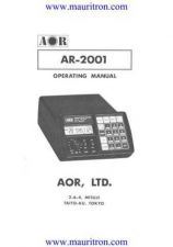 Buy AOR 2001 Operating by download Mauritron #324868