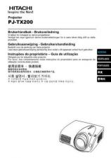 Buy Hitachi PJ-TX100W Service Manual by download Mauritron #290716