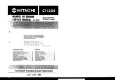 Buy Hitachi CT1958-2 Service Manual by download Mauritron #289490