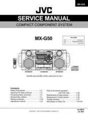 Buy JVC MX-G50 Service Manual by download Mauritron #282799