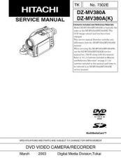 Buy Hitachi DZ-MV550ESW----- Service Manual by download Mauritron #285332