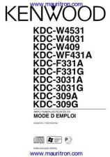 Buy Kenwood. KDC-F331A Operating Guide. on MTS CDC-1611 by download Mauritron #314206