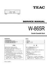 Buy Teac W865R Service Manual by download Mauritron #319588
