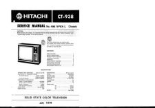 Buy Hitachi CT938-976-974-956-937-906 Service Manual by download Mauritron #285177
