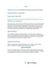 Buy HP 4328A Service and Operating by download Mauritron #316075