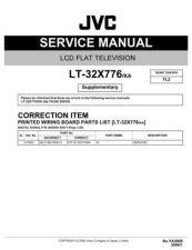 Buy JVC LT-32X776KA Service Manual by download Mauritron #282731