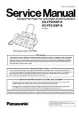 Buy Panasonic FP205_215SP_S Manual by download Mauritron #299364