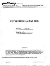 Buy Biddle CTER83 Operating Guide by download Mauritron #309597