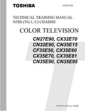 Buy Toshiba CX-35E81 Television Service Manual by download Mauritron #322284
