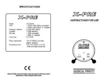 Buy Musical Fidelity XPREV3 ENG Operating Guide by download Mauritron #326955