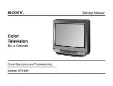 Buy Sony TRAINING BA-4 TV Service Manual by download Mauritron #322979