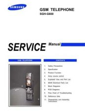 Buy Samsung SGH-G600 Mobile Phone Service Manual by download Mauritron #306365