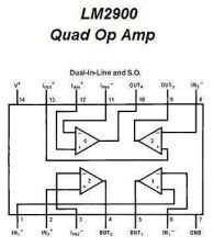Buy IC - LM2900 Quad Op Amp IC (DIP-14) - 6 Pieces