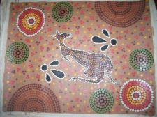 Buy Aboriginal painting Kangeroo dreaming canvas. aboriginal culture