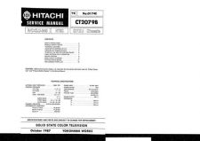 Buy Hitachi CT2085B Service Manual by download Mauritron #285056