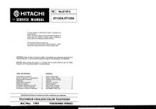 Buy Hitachi CT1304 Service Manual by download Mauritron #289365