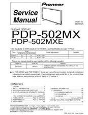 Buy Panasonic PDP-502MXE Manual by download Mauritron #301107