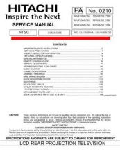 Buy Hitachi 60VG825 Service Manual by download Mauritron #288471
