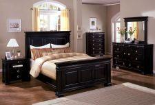 Buy Bedroom Set Antique Cambridge II Espresso Oak Finish Queen King 4Pc Set (B,N,D,M