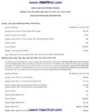 Buy Wurlitzer 2xx Series Electronic Piano Service Manual by download Mauritron #314706