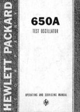 Buy Hewlett Packard 650A Service Manual -SN-6148 by download Mauritron #326666