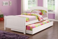 Buy New Daybed with Trundle In White Finish Twin Bed shipping to United State #F9218