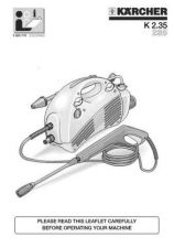 Buy Karcher K 235 Washer Operating Guide by download Mauritron #315532