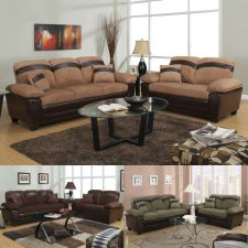 Buy Sofa Set In 3 Colors Sofa Furniture Microfiber Sofa Couch 2 Pc Living room Set