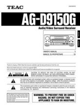 Buy Teac AGD9150GEF Operating Guide by download Mauritron #318289