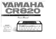 Buy Yamaha CR-20 Operating Guide by download Mauritron #315305