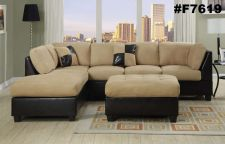 Buy Sectional Sofa 3 pcs Sectional Couch in Microfiber Sectional sofas in 6 Colors