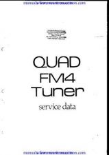 Buy QUAD FM4. TUNER. WSM. A6481 by download Mauritron #312180