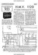 Buy HMV 1120 VINTAGE WIRELESS SERVICE SHEETS by download Mauritron #328548
