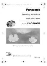 Buy Panasonic NV-GS80E Manual by download Mauritron #300798