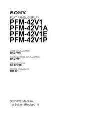 Buy Sony PFM-42V1 Service Manual by download Mauritron #333060