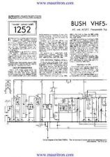 Buy BUSH VHF54 Wireless SERVICE SHEETS by download Mauritron #324883