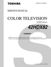 Buy Toshiba 42HDX82 Service Manual by download Mauritron #333183
