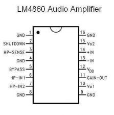 Buy LM4860MX - SMT 1-Watt Audio Amplifier